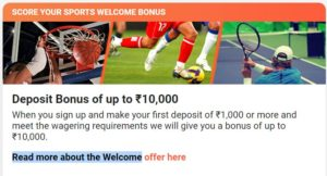 Welcome offer sports leovegas